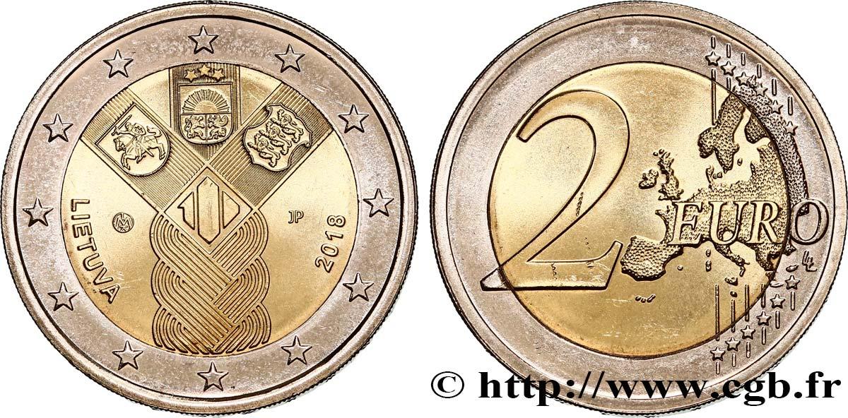 Litauen 2 Euro Centenaire Des états Baltes 2018 Feu474905 Euro Münzen