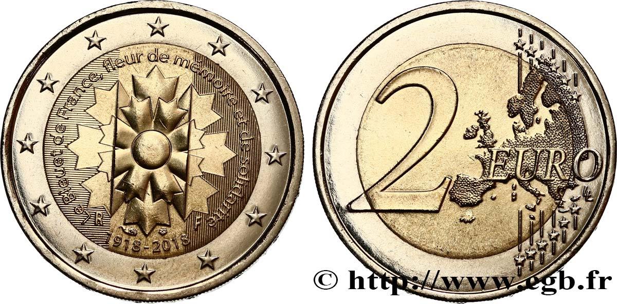 Frankreich 2 Euro Le Bleuet 2018 Pessac Feu478920 Euro Münzen