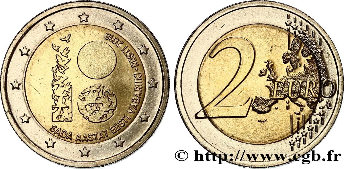 Estland 2 Euro Centenaire De La République Destonie 2018 Feu478930