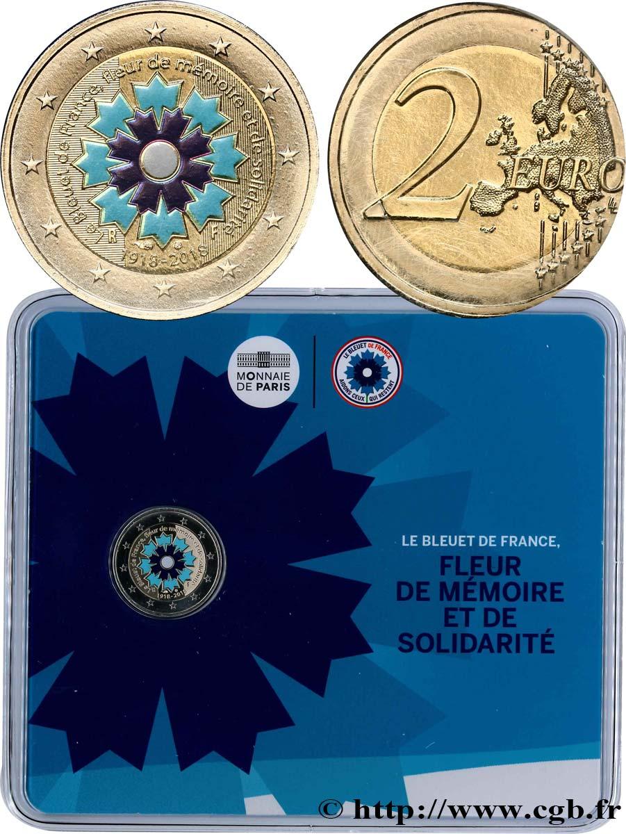 Frankreich Coin Card 2 Euro Le Bleuet 2018 Pessac Feu481709 Euro Münzen