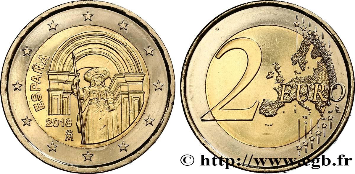Spanien 2 Euro Saint Jacques De Compostelle 2018 Madrid Feu483000