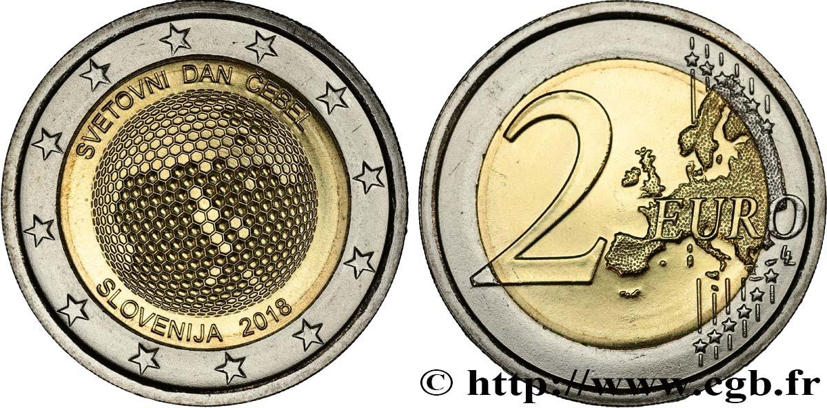 Slowenien 2 Euro Journée Mondiale Des Abeilles 2018 Feu496612 Euro