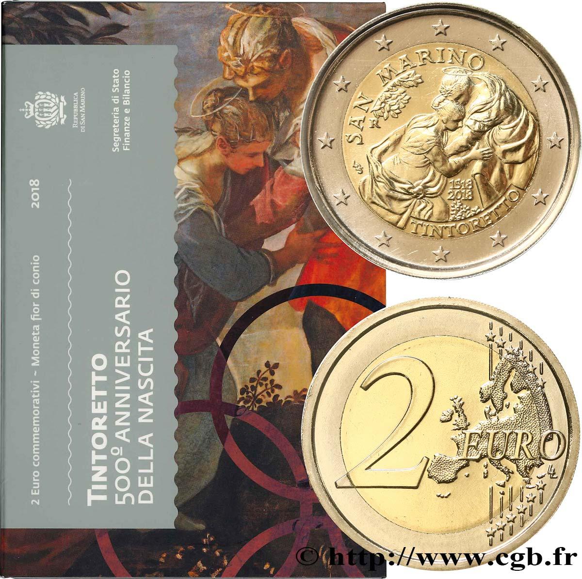 San Marino 2 Euro Le Tintoret 2018 Rome Feu496619 Euro Münzen