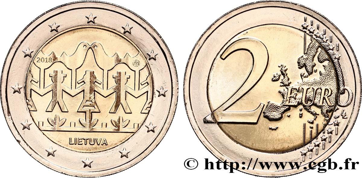 Litauen 2 Euro Festival De Chant Et De Danse 2018 Feu497114 Euro Münzen