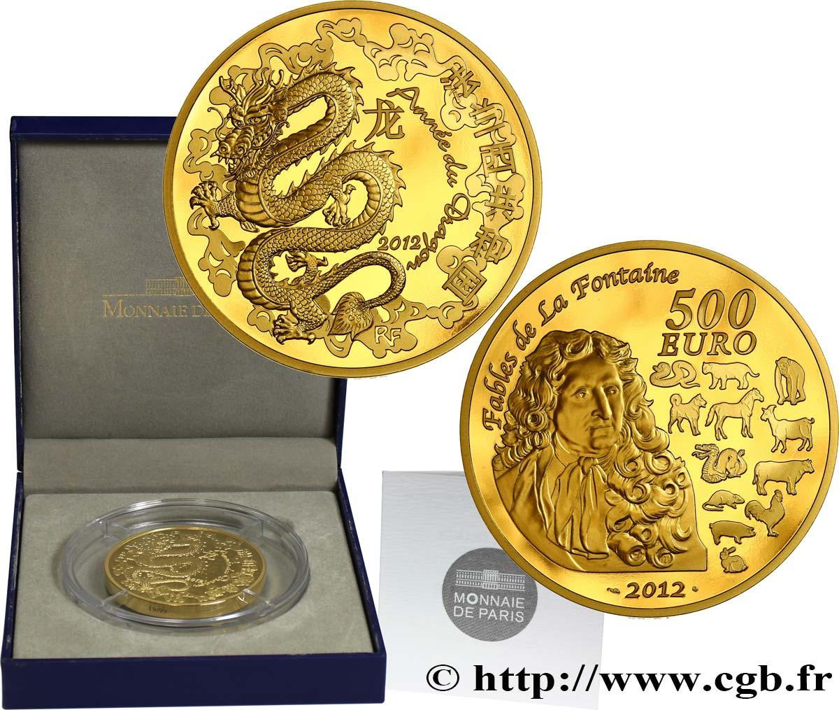 Frankreich Belle épreuve 500 Euro Année Du Dragon 2012 Pessac