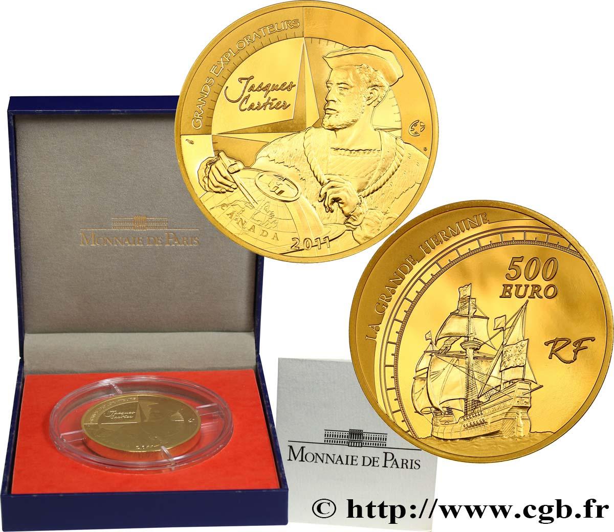 Frankreich Belle épreuve 500 Euro Jacques Cartier 2011 Pessac