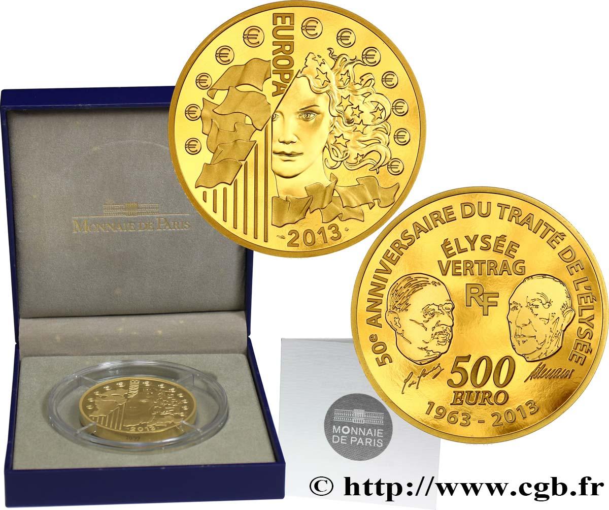 Frankreich Belle épreuve 500 Euro Europa 2012 50 Ans Du Traité De