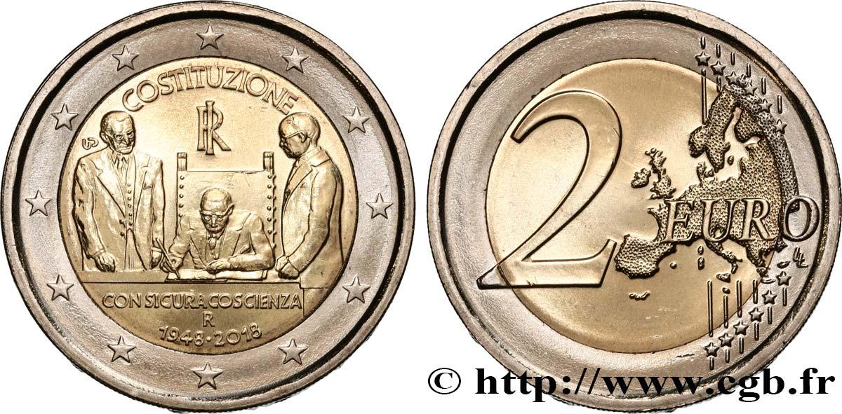 Italien 2 Euro 70 Ans De La Constitution Italienne 2018 Rome