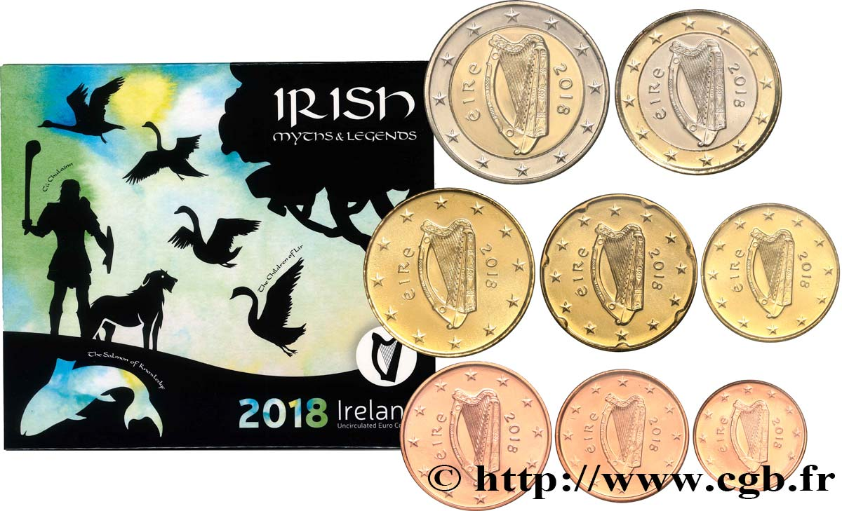 IRELAND REPUBLIC SÉRIE Euro BRILLANT UNIVERSEL - MYTHES & LÉGENDES 2018 Brilliant Uncirculated