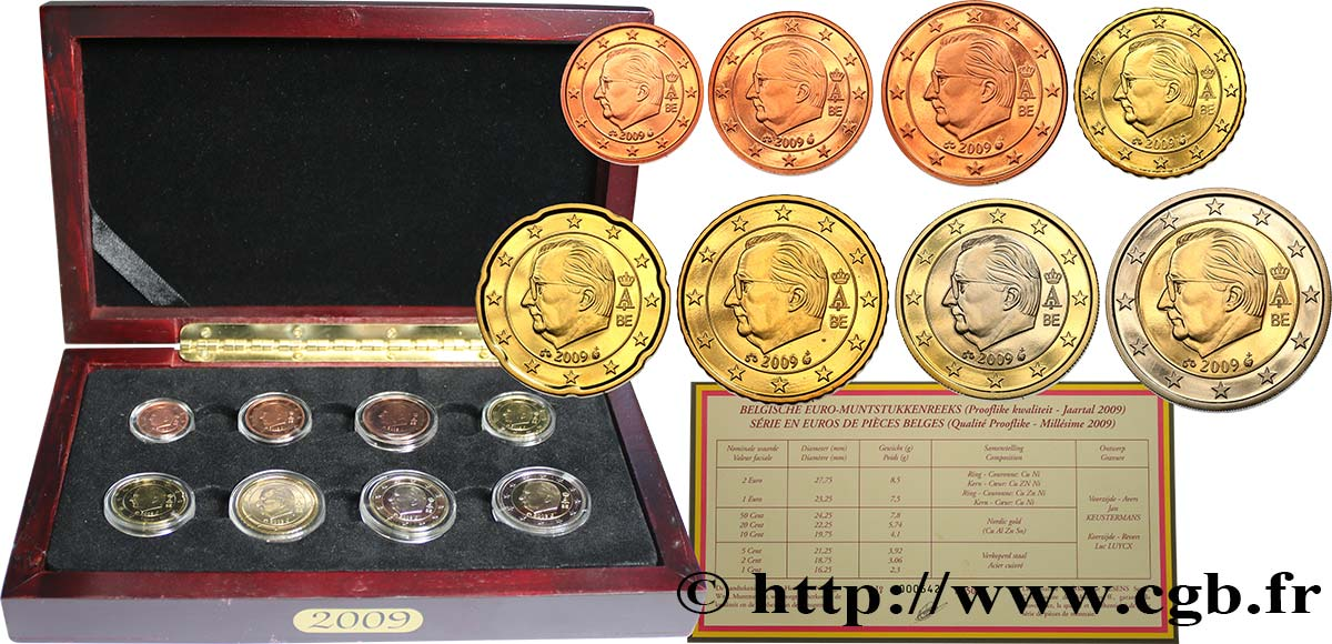 BELGIUM COFFRET Euro BELLE ÉPREUVE 2009 Proof set