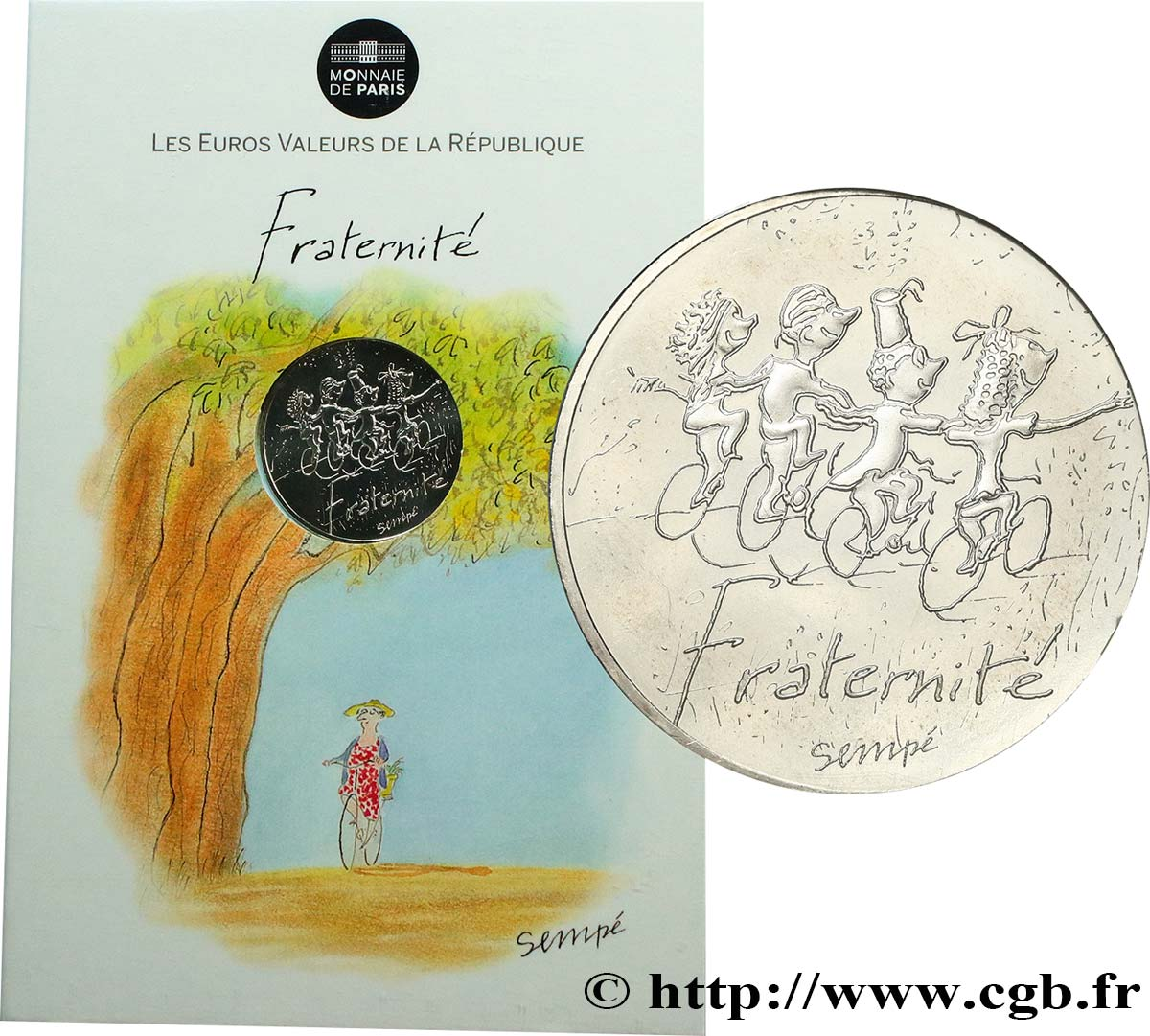 FRANCE 10 Euro FRATERNITÉ par SEMPÉ (printemps) 2014 SPL