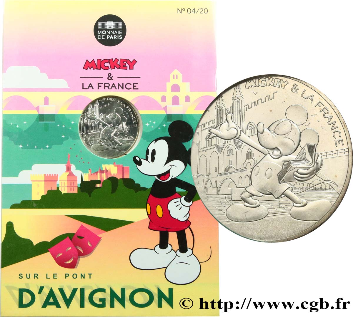 FRANCE 10 Euro MICKEY ET LA FRANCE - SUR LE PONT D'AVIGNON 2018 MS