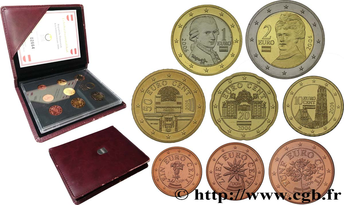 AUSTRIA COFFRET Euro BELLE ÉPREUVE 2006 Proof set