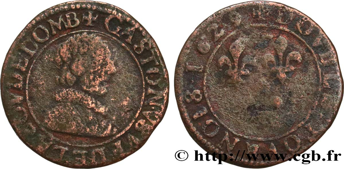 DOMBES - PRINCIPALITY OF DOMBES - GASTON OF ORLEANS Double tournois, type 6 F