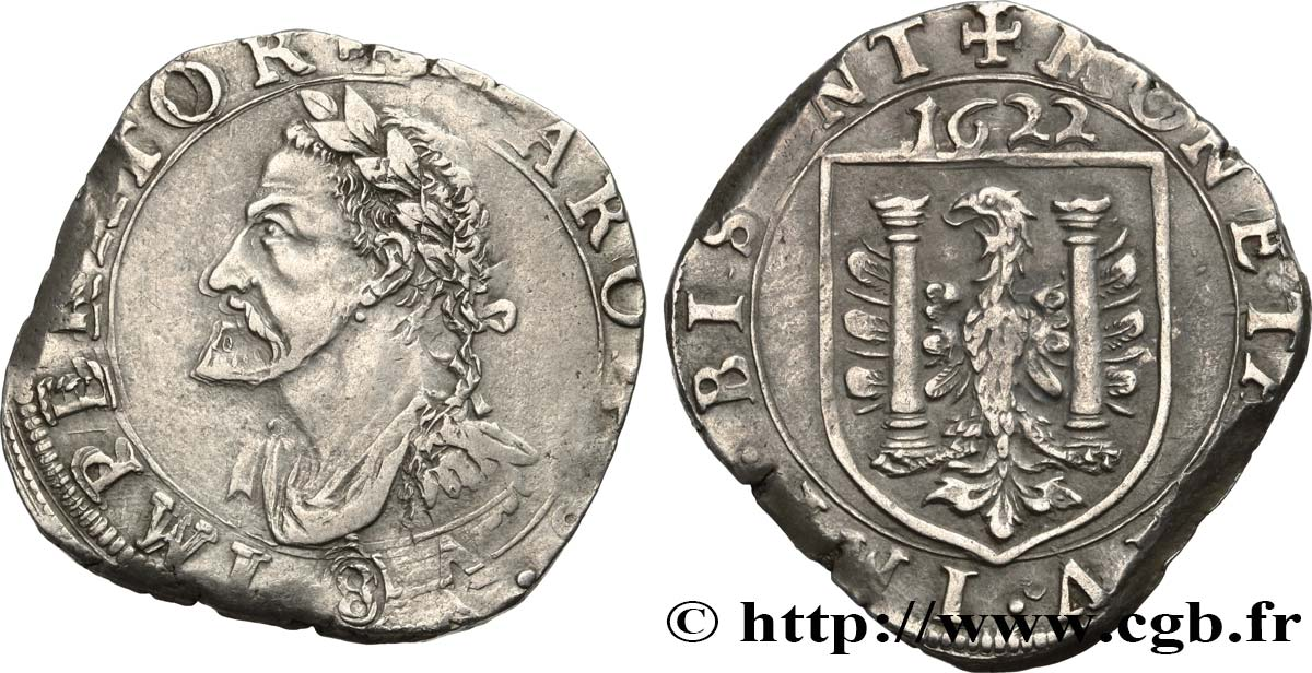 TOWN OF BESANCON - COINAGE STRUCK AT THE NAME OF CHARLES V Teston ou huit gros q.SPL