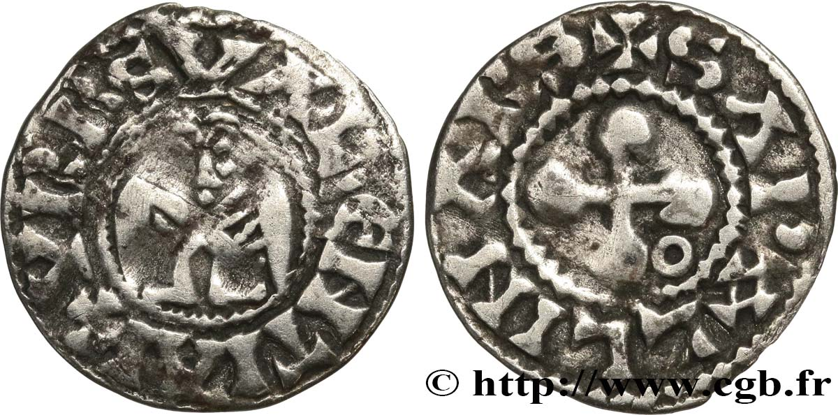 BISCHOP OF VALENCE - ANONYMOUS COINAGE Denier fSS
