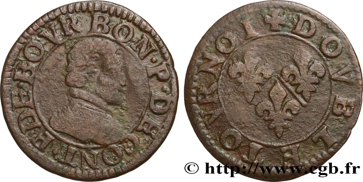 PRINCIPAUTY OF CHATEAU-REGNAULT - FRANCOIS OF BOURBON-CONTI Double tournois, type 18 q.MB
