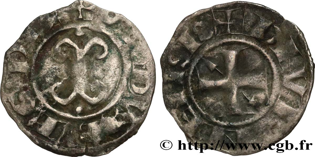 BURGUNDY - DUCHY OF BURGUNDY - ODO or EUDES II Denier VF