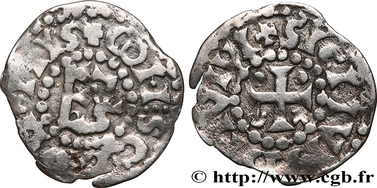 MAINE - COUNTY OF MAINE - COINAGE OF HERBERT I ÉVEILLE-CHIEN AND IMMOBILIZED IN HIS NAME Denier XF/VF