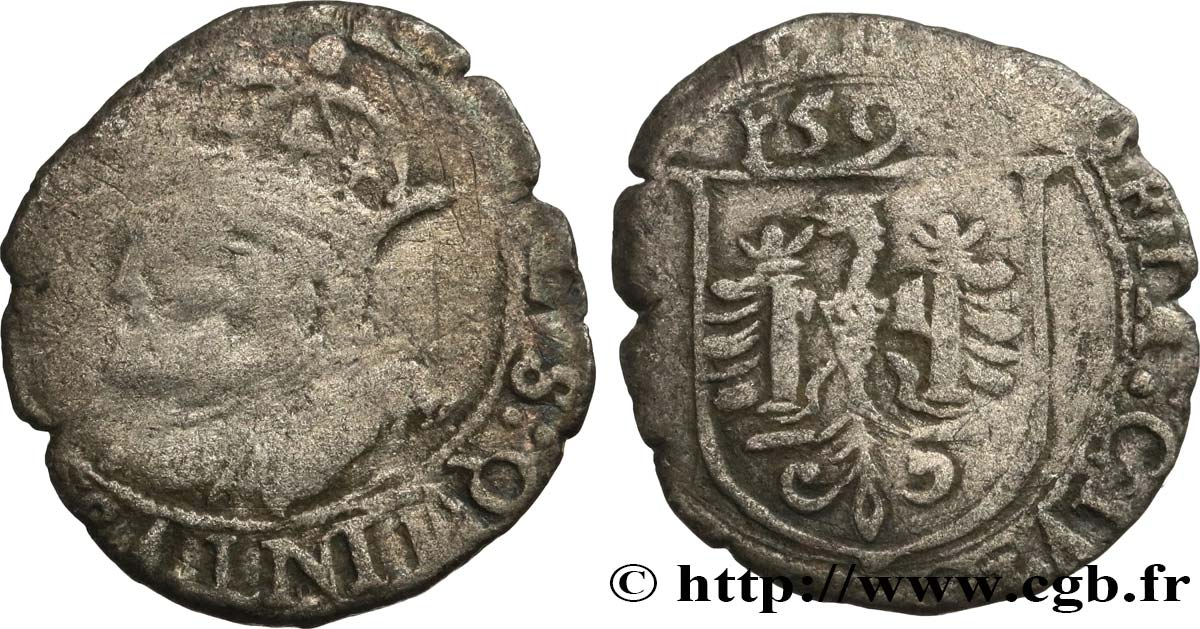 TOWN OF BESANCON - COINAGE STRUCK AT THE NAME OF CHARLES V Carolus B