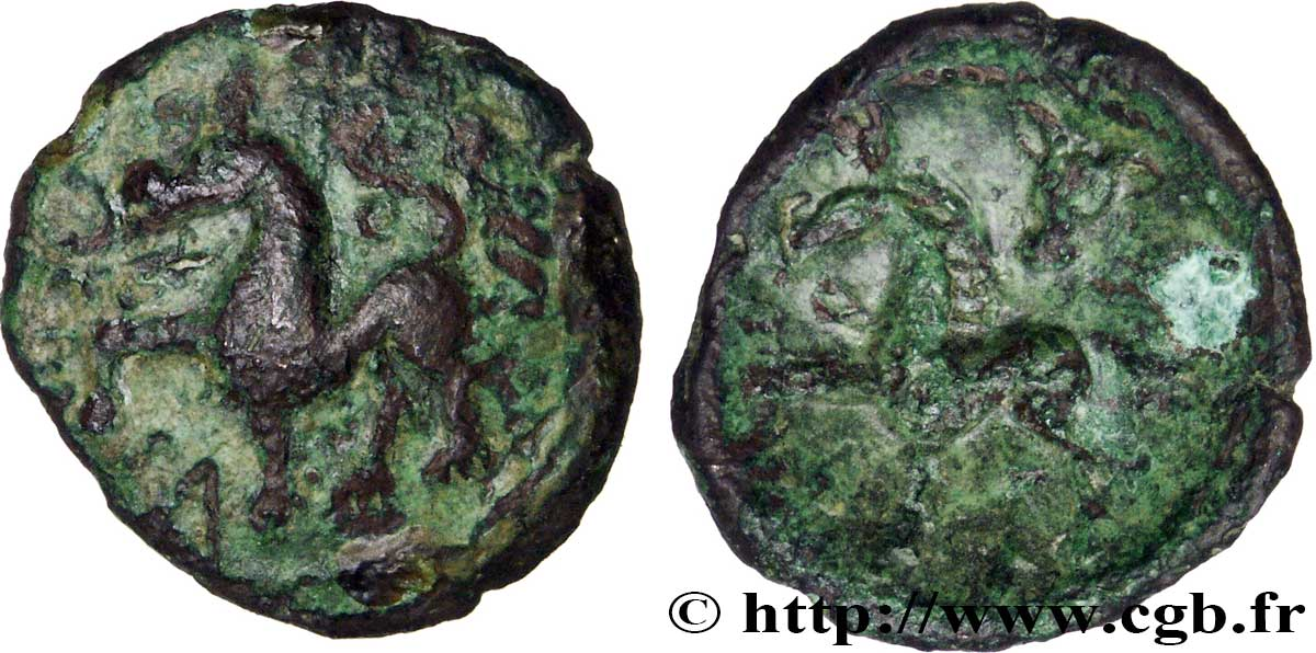 AMBIANI (Area of Amiens) Bronze VOCIICA VF/XF