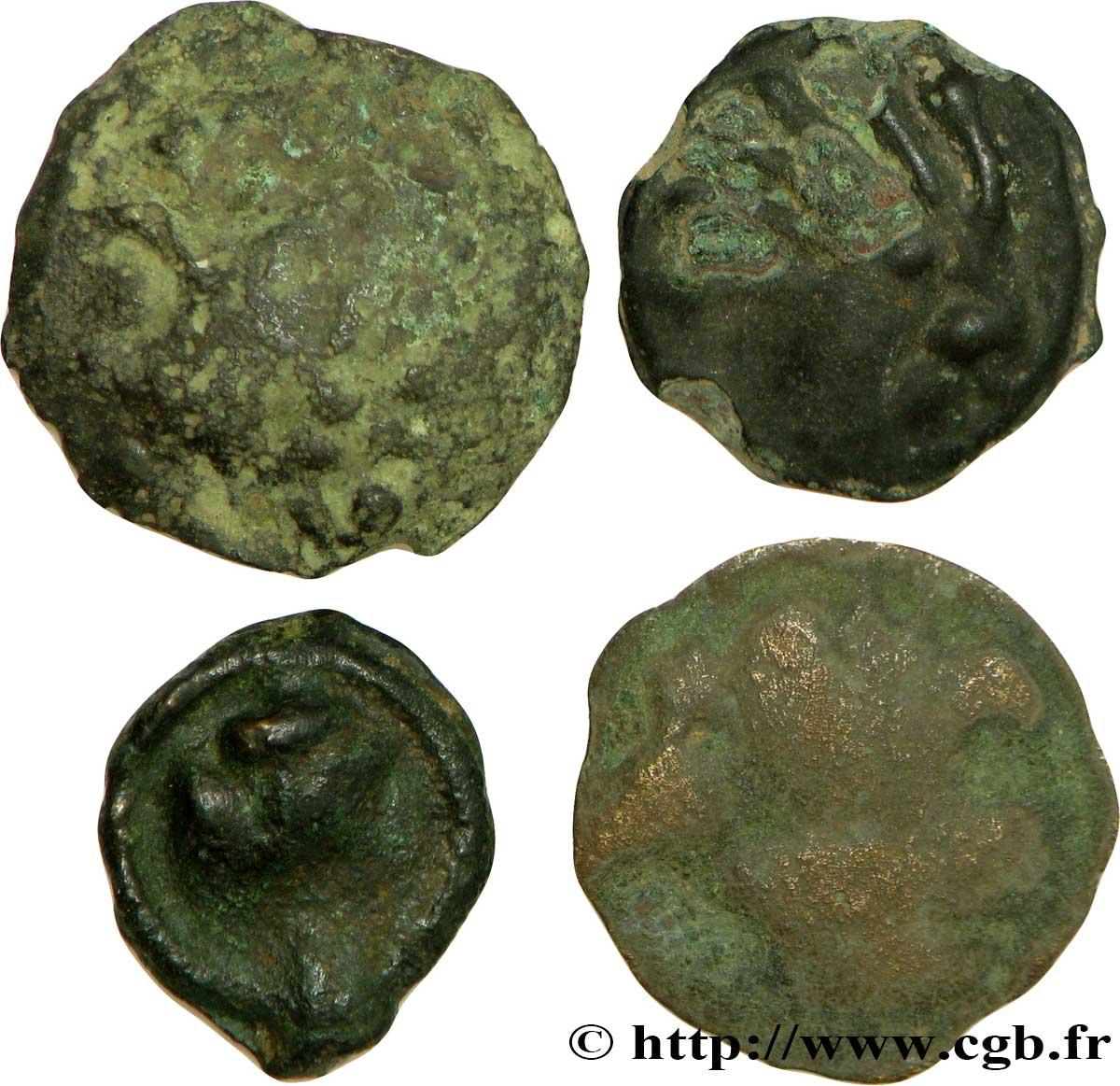 Gallo-Belgian / Celtic Lot de 4 potins