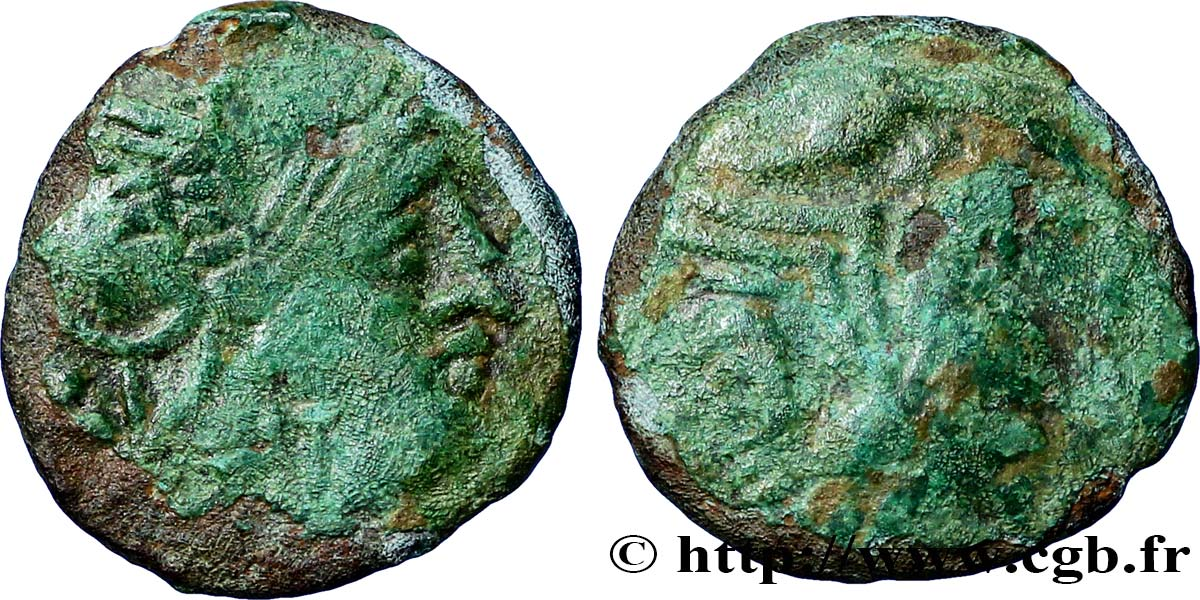 "GALLIA BELGICA - BELLOVACI (Area of Beauvais) Bronze au coq, ""type de Bracquemont"" VF/F"