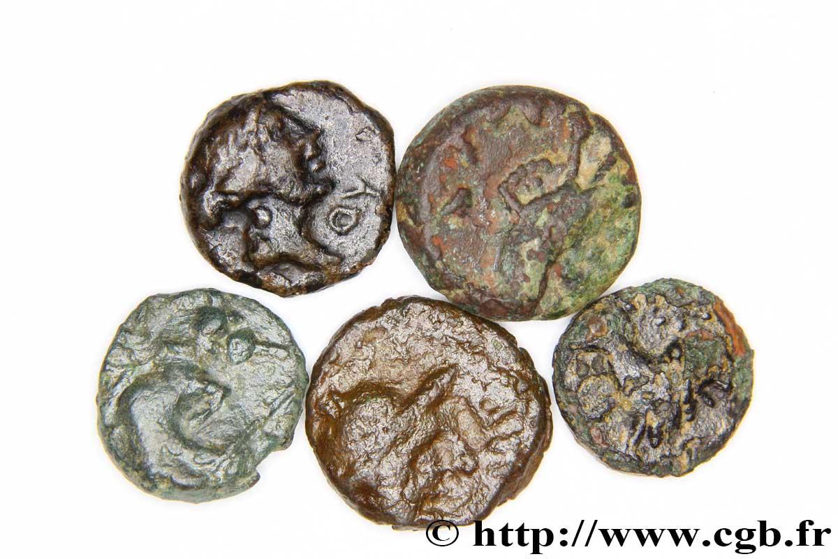 massalia marseille lot de 5 petits bronzes d talon romain bga 264554 gauloises. Black Bedroom Furniture Sets. Home Design Ideas