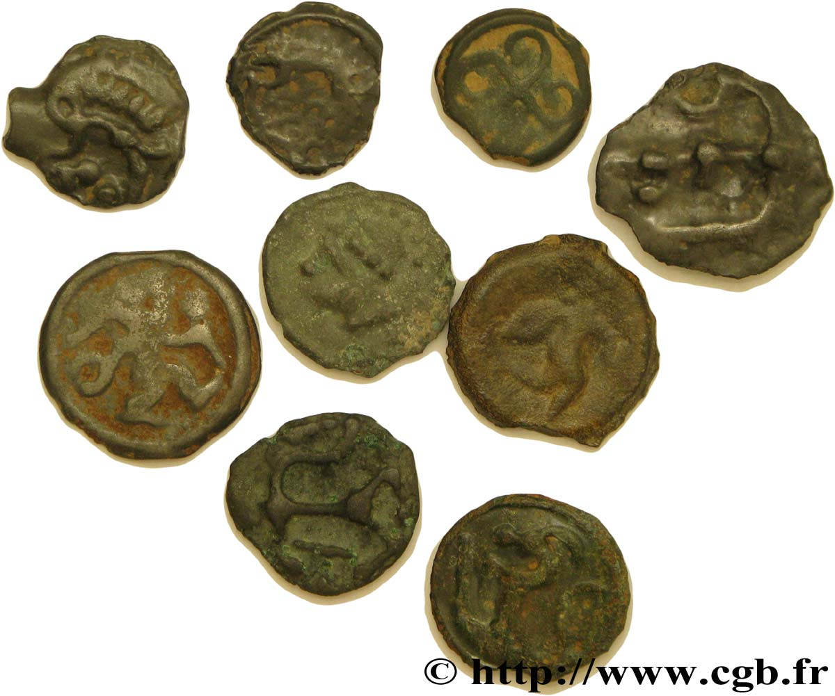 GALLO-BELGIAN - CELTIC Lot de 9 potins variés lot