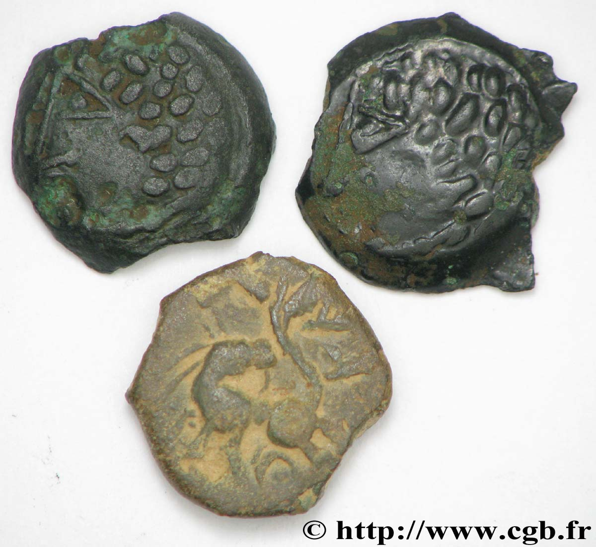 LINGONS (Région de Langres) Lot de 3 bronzes EKPITO lot