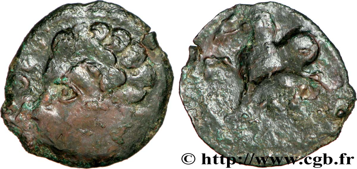 BITURIGES CUBI / WESTERN CENTER, UNSPECIFIED Bronze ROAC, DT. 3716 et 2613 VF/VF