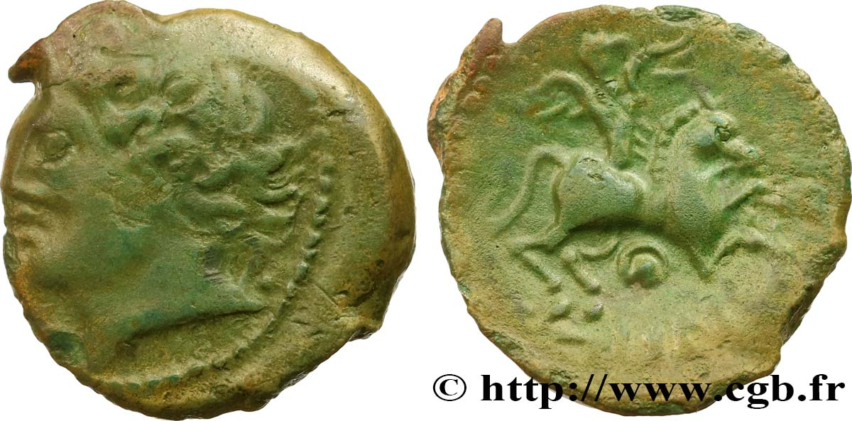 GALLIA BELGICA - MELDI (Area of Meaux) Bronze EPENOS XF