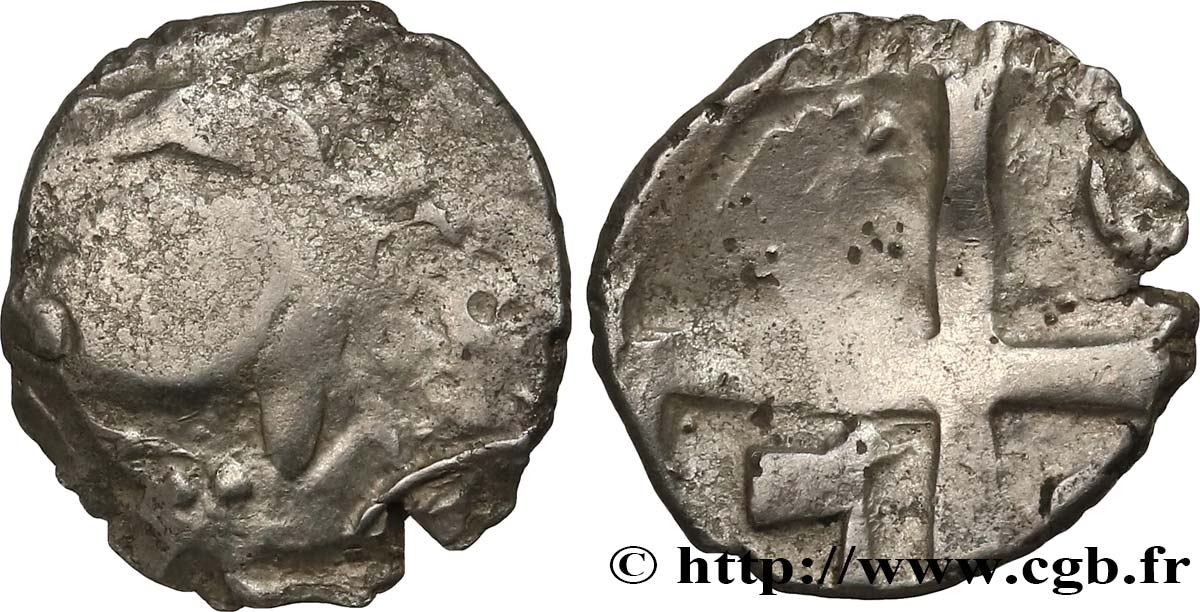 GALLIA - SOUTH WESTERN GAUL - PETROCORII (Area of Perigueux) Drachme  type de Belvès , S. 213 F/VF