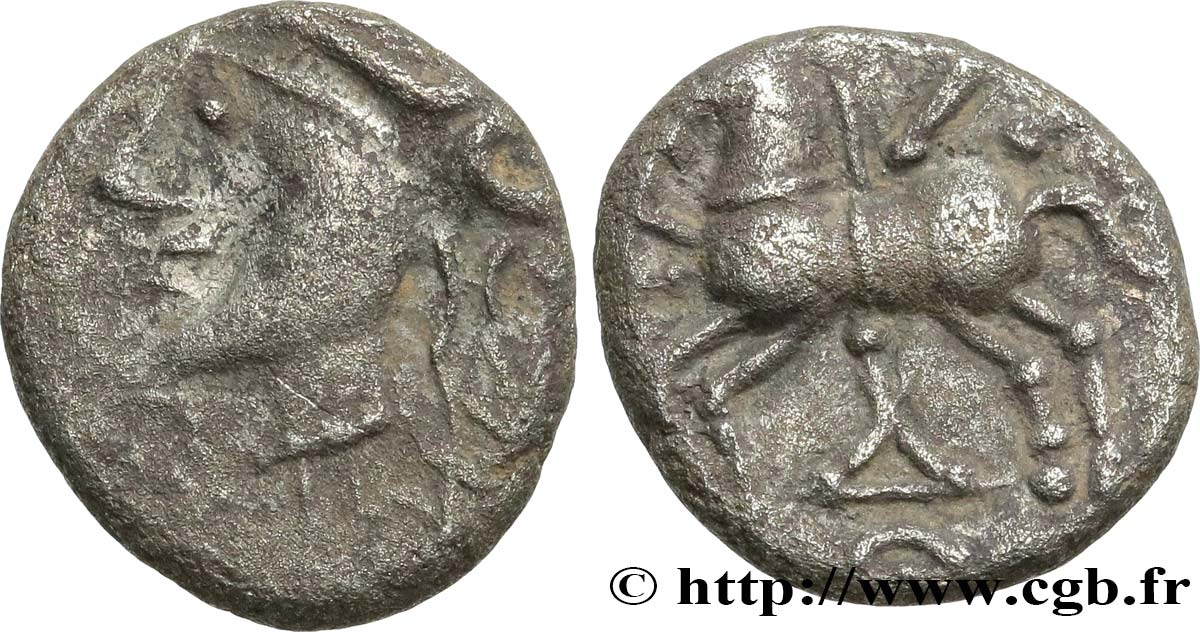 GALLIA BELGICA - LINGONES (Area of Langres) Denier KALETEDOY, B5 VF/XF