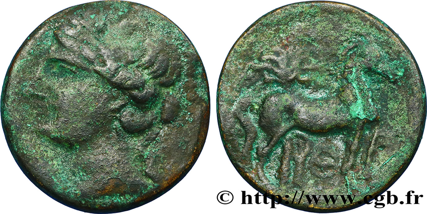 ZEUGITANA - CARTHAGE Double shekel VF