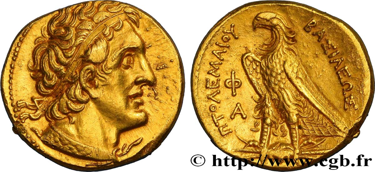 EGYPT - LAGID OR PTOLEMAIC KINGDOM - PTOLEMY I SOTER Pentadrachme d'or ou trichrysa MS