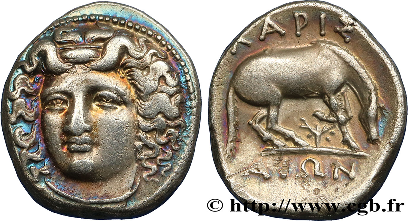 THESSALY - LARISSA Drachme XF