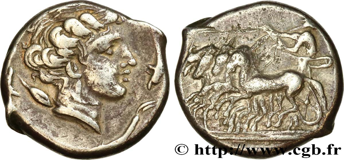 SICILY - SICULO-PUNIC - LILYBAION Tétradrachme XF