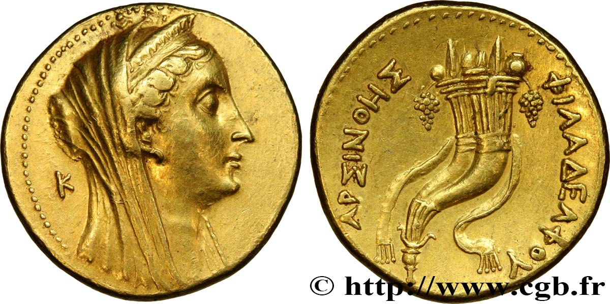 EGYPTUS - PTOLEMAIC KINGDOM - PTOLEMY II PHILADELPHOS Octodrachme d'or (mnaieon) - Retiré/Withdrawn AU