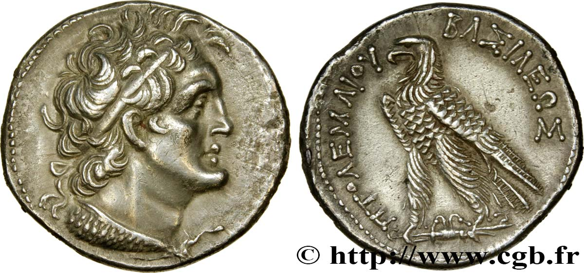 EGYPT - LAGID OR PTOLEMAIC KINGDOM - PTOLEMY VI PHILOMETOR Tétradrachme AU