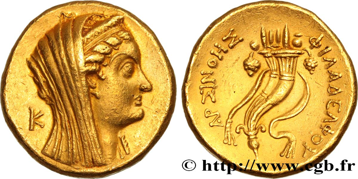 EGYPT - LAGID OR PTOLEMAIC KINGDOM - PTOLEMY VI PHILOMETOR Octodrachme d'or (mnaieon) AU