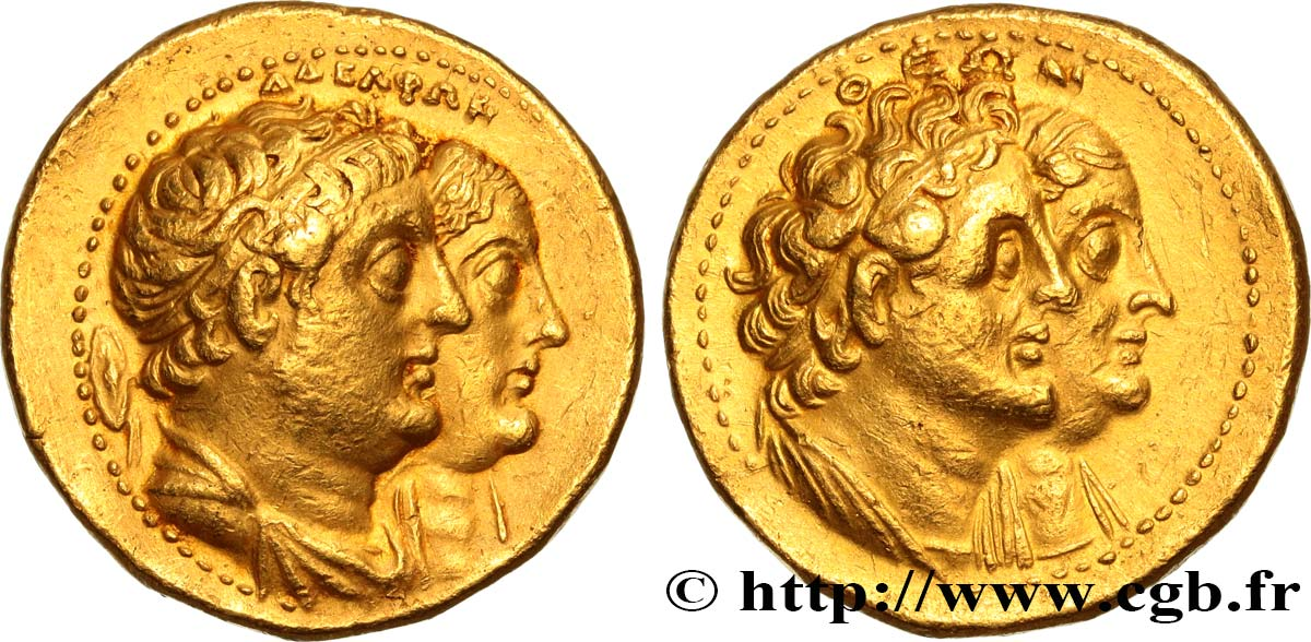 EGYPTUS - PTOLEMAIC KINGDOM - PTOLEMY III EUERGETES Octodrachme d'or (mnaieon) AU