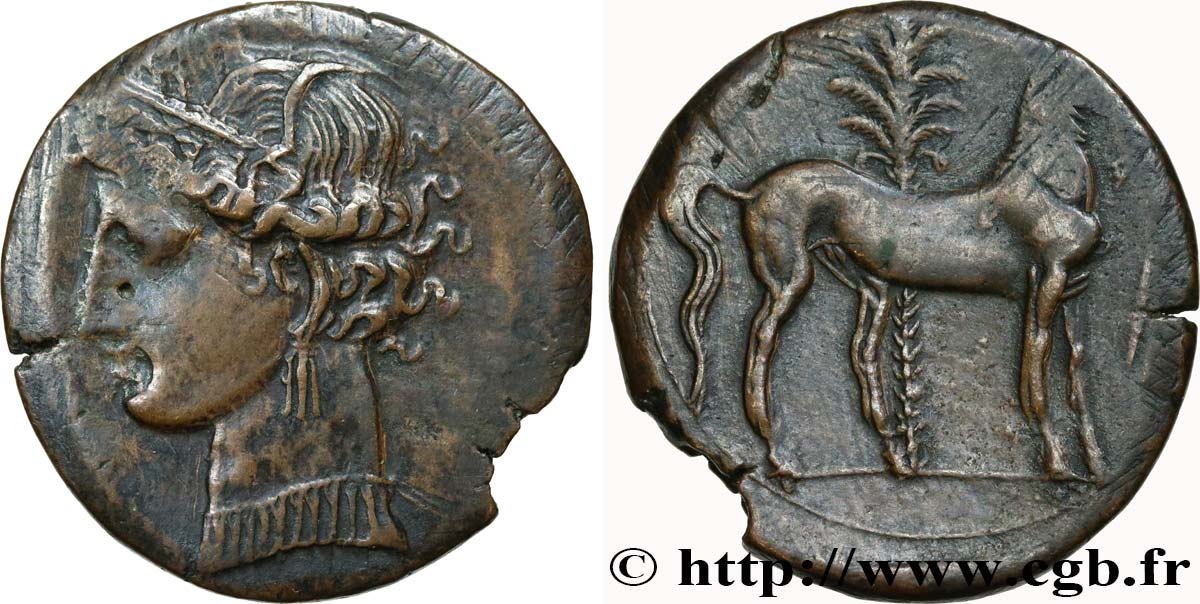 ZEUGITANA - CARTHAGE Double shekel AU