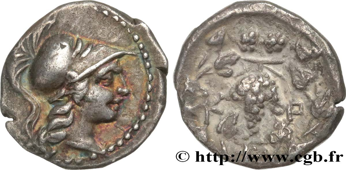 MESSENIA - KORONE Hemidrachme AU/XF