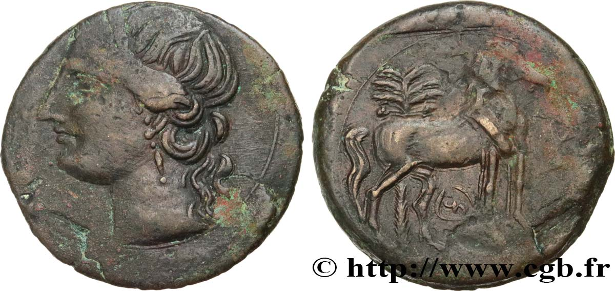 ZEUGITANA - CARTHAGE Triple shekel XF