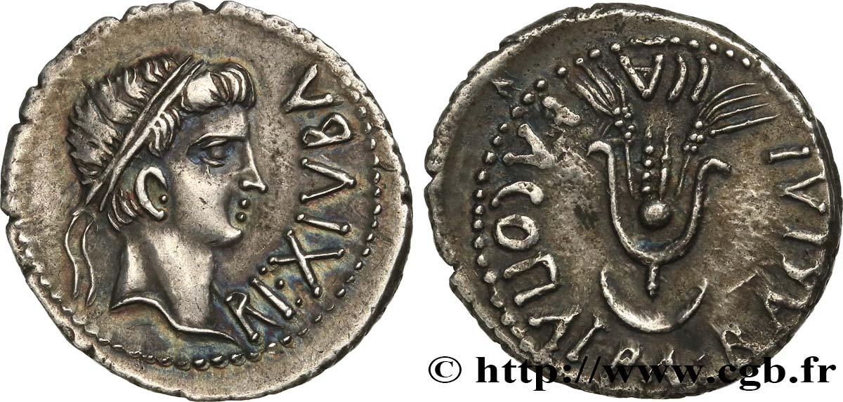 MAURETANIA - MAURETANIAN KINGDOM - JUBA II and CLEOPATRA Denier MS/AU