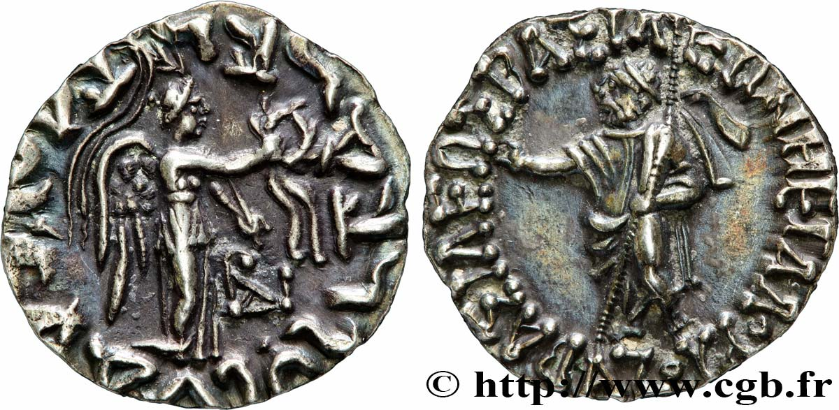 SCYTHIA - INDO-SCYTHIAN KINGDOM - AZES Drachme bilingue MS
