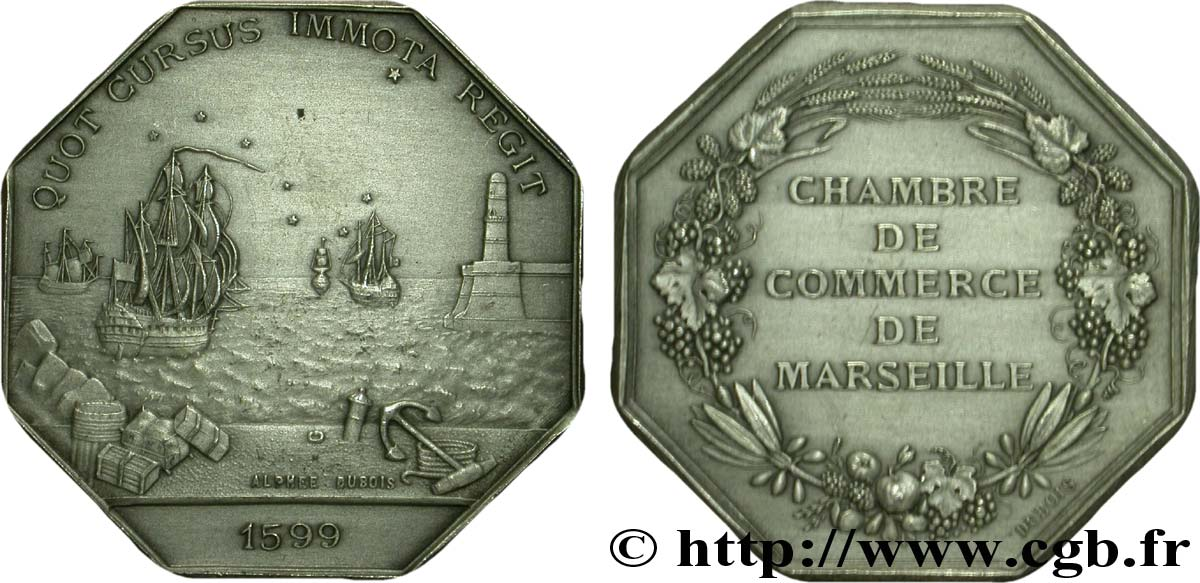 Chambres de commerce chambre de commerce de marseille frappe post rieure 1775 fjt 081430 jetons - Chambre des commerce marseille ...