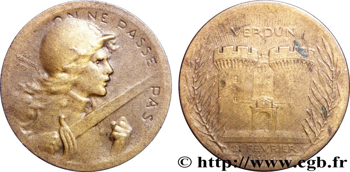 e1759dbf7d8d80 fjt 196619 - TROISIÈME RÉPUBLIQUE Médaille BR 37, Bataille de Verdun 1916