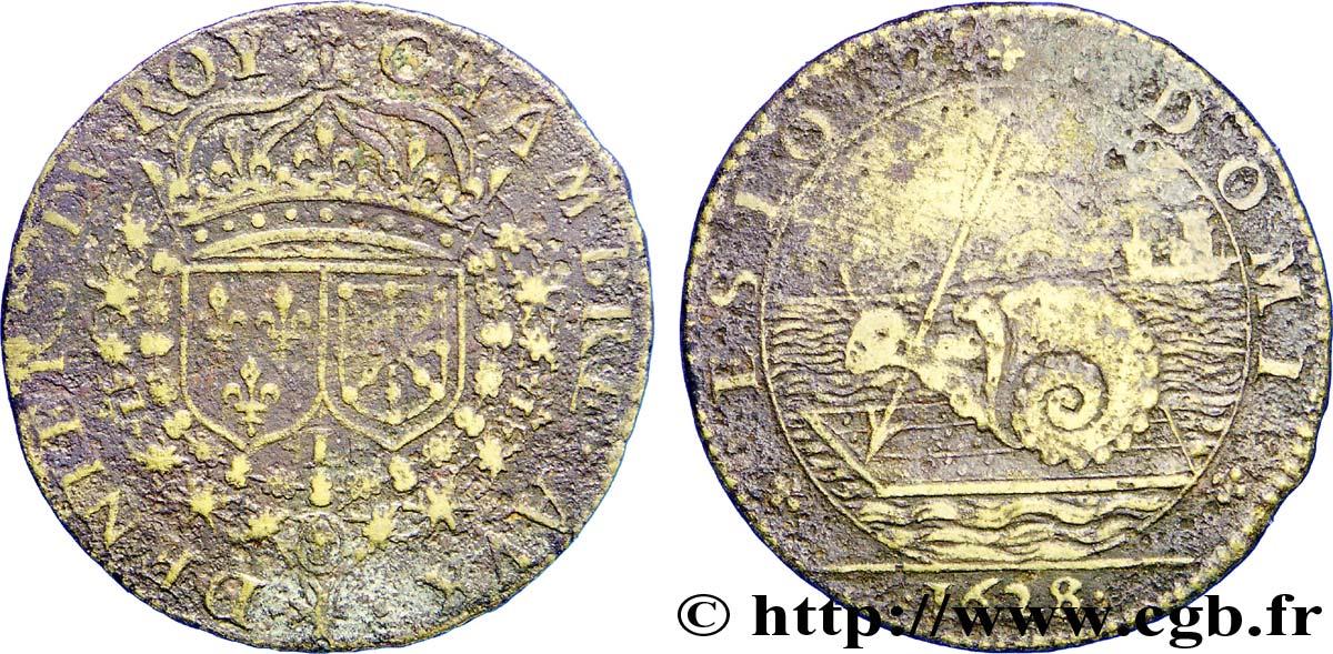 Chambre aux deniers louis xiii 1628 vf fjt 224325 jetons for Chambre louis 13